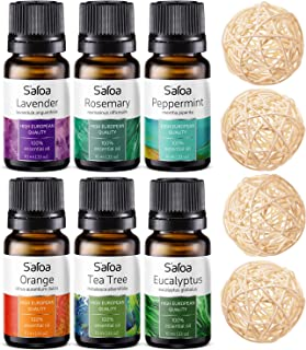 Essential Oils Set - Top 6 Essential Oils for Diffusers for Home, Aromatherapy - Tea Tree, Rosemary, Lavender, Peppermint,...