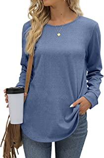 Sponsored Ad - Aokosor Womens Long Sleeve Tops Casual Crewneck Tunic Sweatshirts for Legings