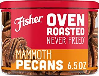 FISHER Snack Oven Roasted Never Fried Mammoth Pecans, Non-GMO, Made With Sea Salt