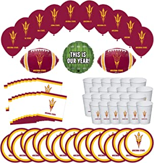 Mayflower Products Arizona State University Sun Devils Football Tailgating Party Supplies for 20 Guest and Balloon Bouquet Decorations