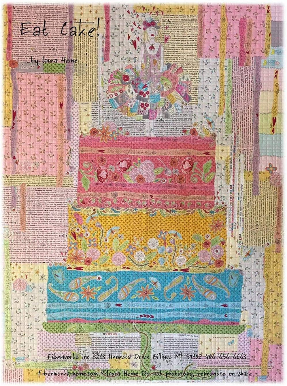 Popular product Eat Free shipping on posting reviews Cake. Collage Quilting Pattern Laura Heine Fiberworks by for