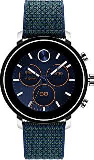 Connect 2.0 Unisex Powered with Wear OS by Google Stainless Steel and Navy Velcro Fabric Smartwatch, Color: Navy (Model: 3660030)