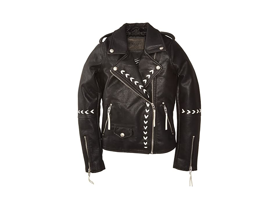 Blank NYC Kids Vegan Leather Moto Jacket with Lacing Detail in Second Chances (Big Kids) (Second Chances) Girl