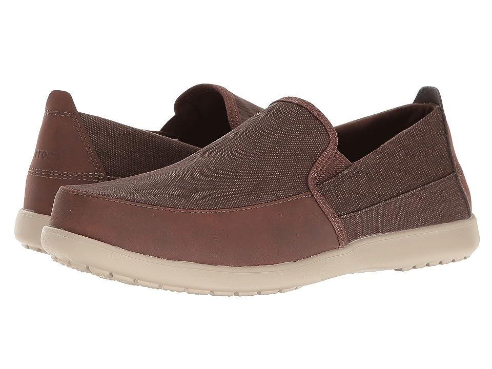 Crocs Santa Cruz Deluxe Slip-On (Espresso/Mushroom) Men