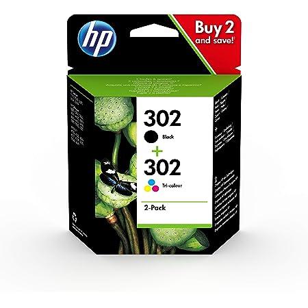 HP 302 X4D37AE, Pack de 2, Cartuchos de Tinta Originales Negro y Tricolor, compatible con impresoras de inyección de tinta HP DeskJet 1110, 2130, 3630, HP ENVY 4520, HP OfficeJet 3830, 4650 y 5220
