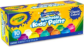 Crayola Washable Kids Set Activity Paint, Multi 10 per