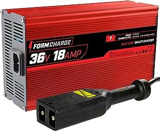 """شارژر باتری FORM 18 AMP EZGO TXT برای چرخ دستی های گلف 36 ولت - پلاگین سبک """"D"""""""