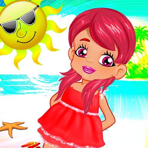 bebé de la diversión del partido chica del verano - los niños juego de mesa