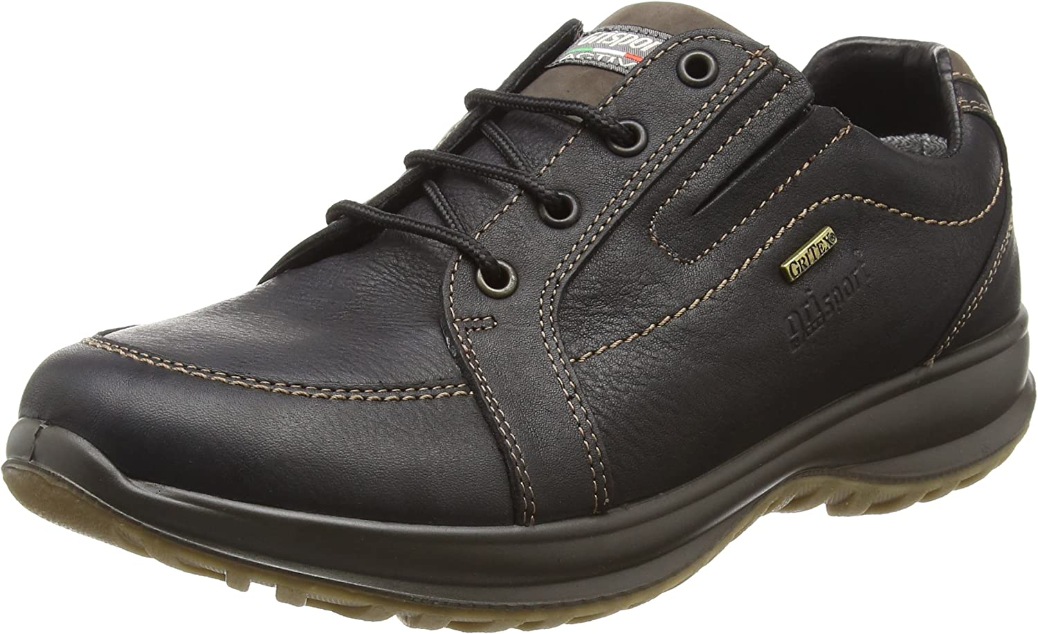 greyport 'Ayr' Active Air, Water-Resistant Italian Leather Comfort shoes Black