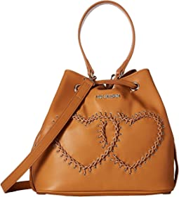 LOVE Moschino - Stitched Heart Bucket Bag