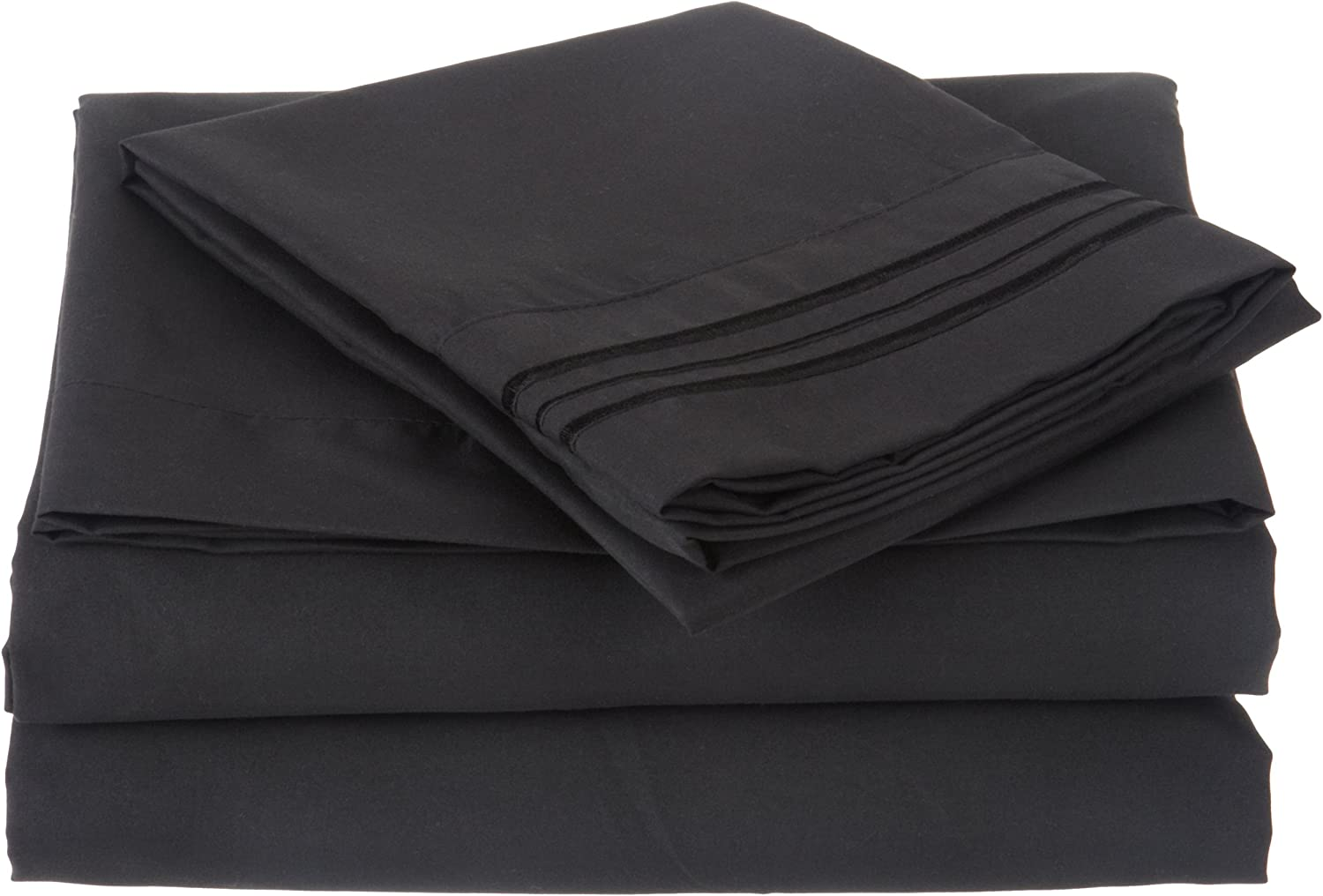 Luxury Embroidered Microfiber 4 piece All stores are sold Triple Max 41% OFF with set Sheet Line