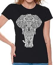 Awkwardstyles Women's Elephant T-Shirt Animal Lover Aztec Shirt