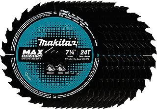 Makita B-61656-10 24T Carbide-Tipped Max Efficiency Circular Saw Blade, Framing, 7-1/4