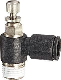 Legris 7665 56 11 Nylon Air Flow Control Valve, 90 Degree Elbow, Meter-Out, External Screw/Knob, 1/4