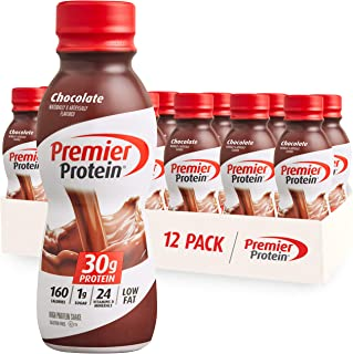 Premier Protein Shake, Chocolate, 30g Protein, 1g Sugar, 24 Vitamins & Minerals, Nutrients to Support Immune Health 11.5 fl oz, 12 Pack