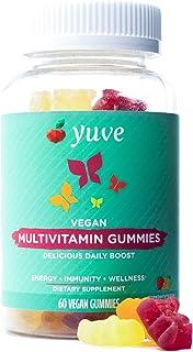 Yuve Vegan Multivitamin Gummies for Men and Women - Daily Energy, Strength, Immunity - Vitamin A, C, B3, B6, B12, Biotin &...