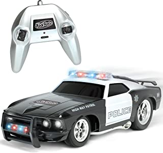 KidiRace Remote Control Police Car with Flashing Lights & Sounds – 2.4GHz RC Cop Car for Boys and Girls