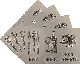 Benson Mills Eat Drink Cork Placemat, Linen, (Set of 4)