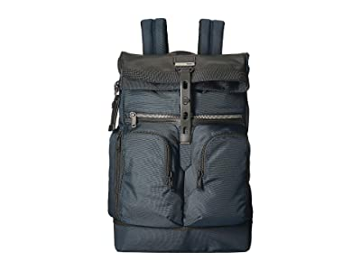 Tumi Alpha Bravo London Roll-Top Backpack (Navy) Backpack Bags