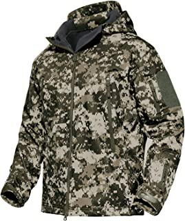 MAGCOMSEN Men's Hooded Tactical Jacket Water Resistant...