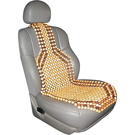 SUMEX Universal Fit 100/% Natural Real Wood Wooden Car Seat Cover