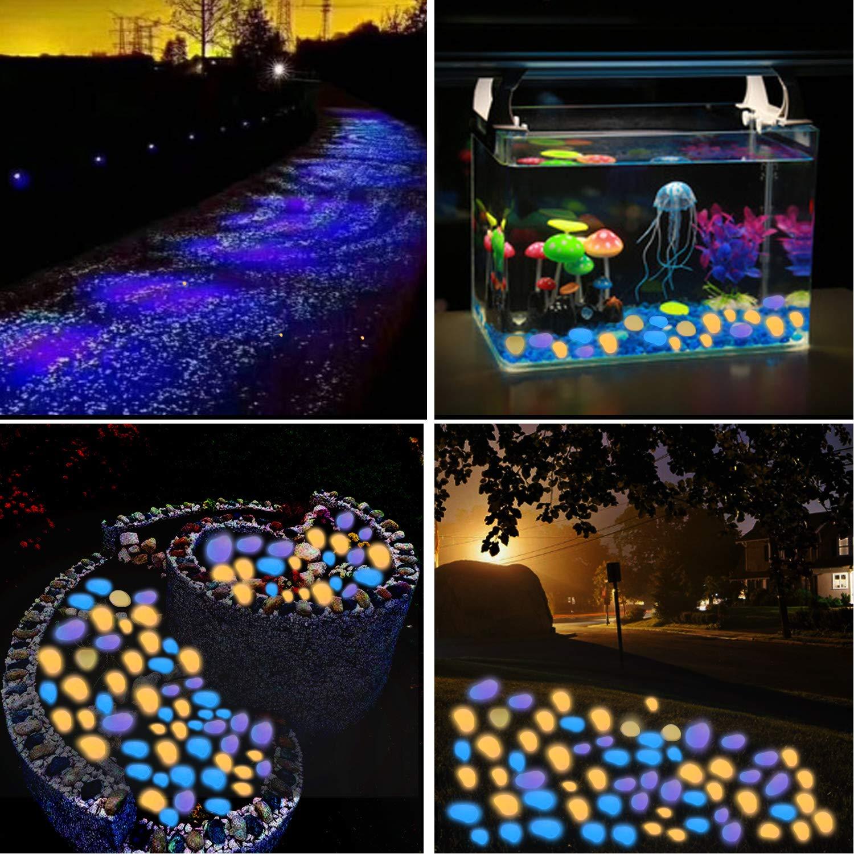 Amazon.com : Jsbaby Glow in The Dark Pebbles for Outdoor Decor, 200 pcs Glow  Decorative Stones Rocks, Luminous Pebbles Stones for Outdoor Decor Pathway,  Lawn Garden Yard, Aquarium, Fish Tank(Colorful) : Garden