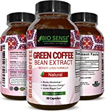 Pure Green Coffee Bean Extract – Standardized to 50% Chlorogenic Acid – Weight Loss Supplement for Men & Women – Burns Both Fat and Sugar – High Grade Natural Ingredients