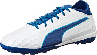 Men's Evotouch 3 TT Football Boots, White (Puma White-True Blue-Blue Danube 02), 10.5 UK