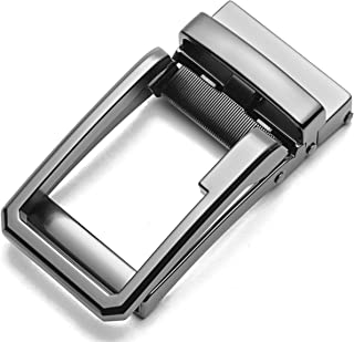 40mm Ratchet Belt Buckle Only for 1 3/8 Slide Belt Strap, CHAOREN Automatic Click Buckle Adjustable - black - Large