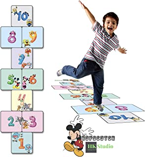 HK Studio Sensory Path Stickers for Kids   Sensory Path Decals Hopscotch Funny Game Help Kids Develop Motor Skills During ...