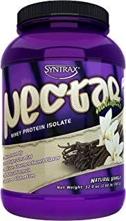 Syntrax Nectar Naturals, Native Grass-Fed Whey Protein Isolate, RBST-Free, Grass-Fed Whey, All-Natural Formula, Mixes Inst...