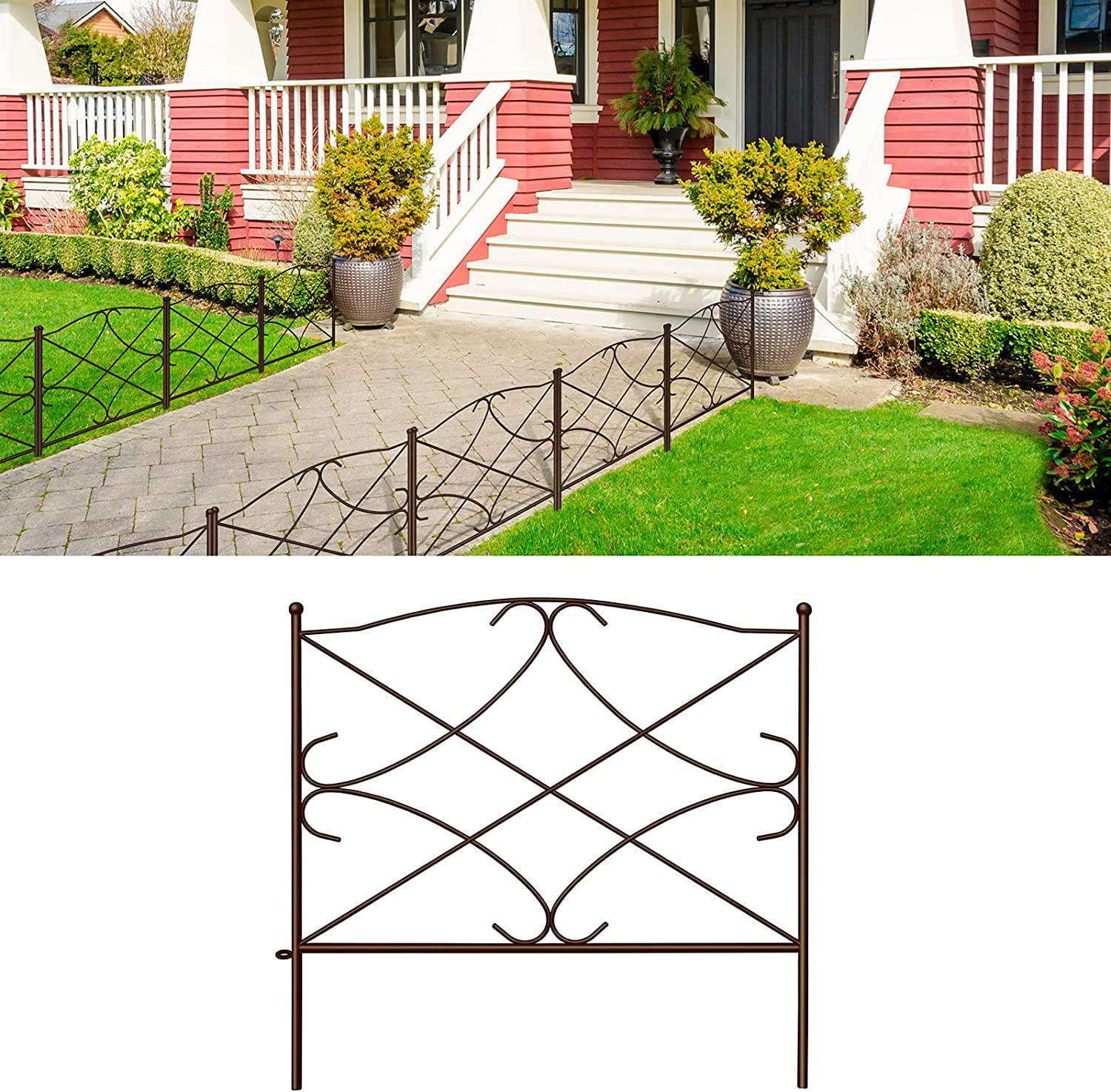 Quality inspection Amagabeli security Decorative Garden Fence 24in Outdoor Rustproof x 10ft