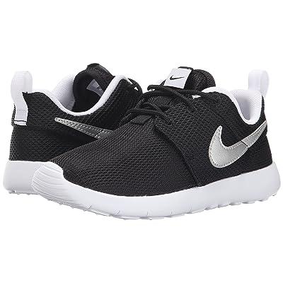 Nike Kids Roshe One (Little Kid) (Black/White/White/Metallic Silver) Boy