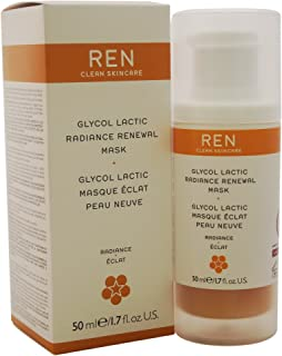 REN Glycol Lactic Radiance Renewal Mask for Unisex - 1.7 oz Mask