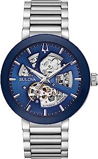 Bulova - Reloj Analógico para Hombre de Automático con Correa en Acero Inoxidable 96A204