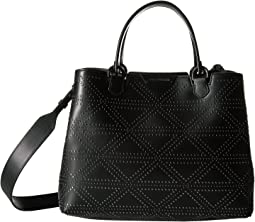 Emporio Armani Shopping Vacchetta+Borchie - Medium Shopping