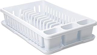 comprar comparacion Tatay Escurreplatos Rectangular con Bandeja plástico Polipropileno Libre de bpa, Blanco, 27 x 42 x 10 cm