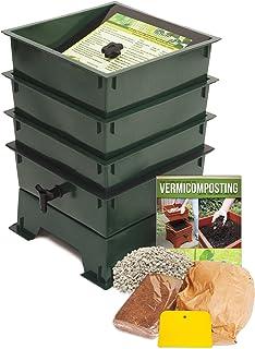 Nature's Footprint Standard 3 Tray Composting Worm Bin, Green