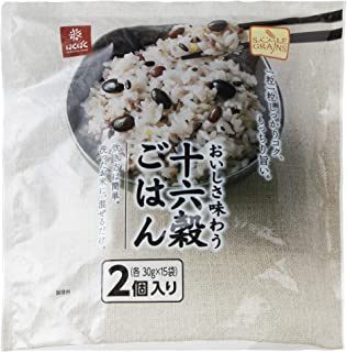 [Amazon限定ブランド] はくばく SMILEGRAINS 十六穀ごはん 450g × 2個セット