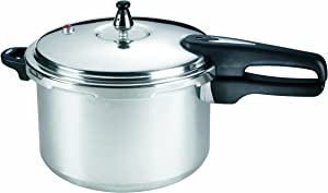 Mirro 92180A Polished Aluminum  10-PSI Pressure Cooker Cookware, 8-Quart, Silver - 7114000231