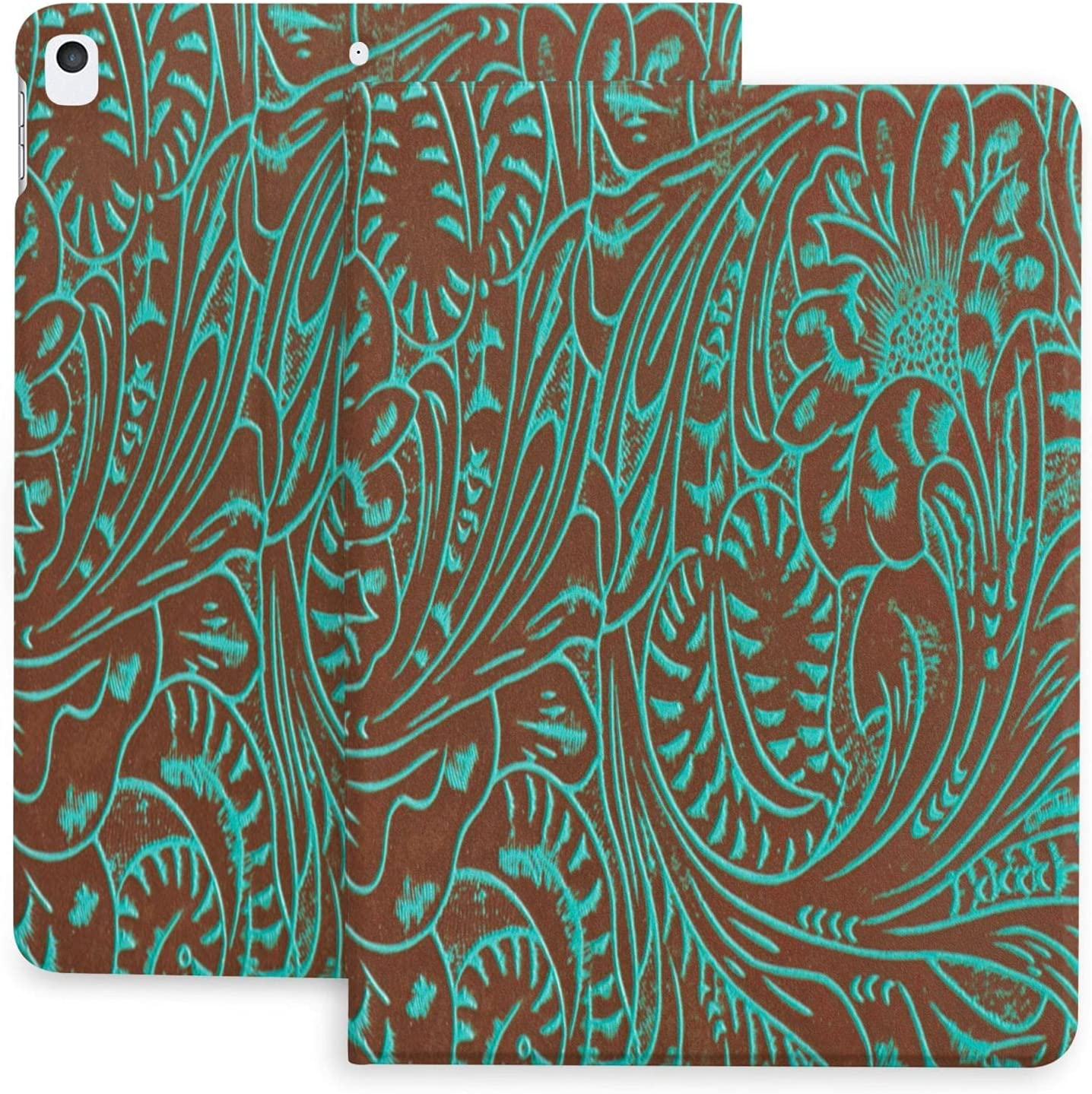 Mail order Western Country Rustic Aqua Teal and for Ipad Brown Case Cowboy Rare
