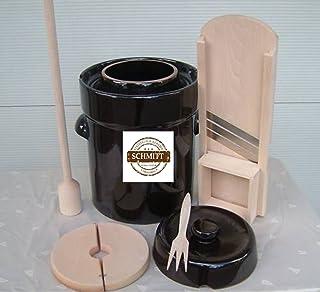 Steinzeug-Schmitt - Set de olla para hacer chucrut (5 L,