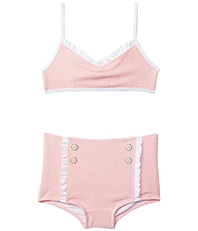Janie and Jack Textured Two-Piece Swim (Toddler/Little Kids/Big Kids) (Pink) Girl