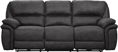 "Homelegance Hadden 91"" Fabric Power Reclining Sofa, Gray"