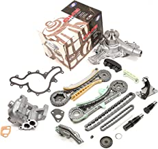 Evergreen TK20700WOP Fits Ford Explorer Ranger Mazda Mercury 4.0L SOHC Timing Chain Kit, Oil Pump, and Water Pump (with Gears)