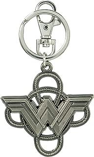 DC Comics Wonder Woman Logo with Lasso Pewter Key Ring Key Accessory