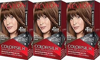 Revlon Colorsilk Beautiful Color, Medium Golden Brown, 3 Count