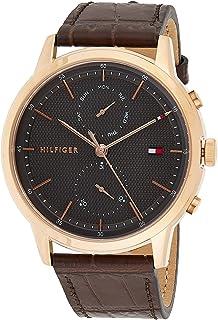 Tommy Hilfiger Men's Analogue Quartz Watch with Leather Calfskin Strap 1710435