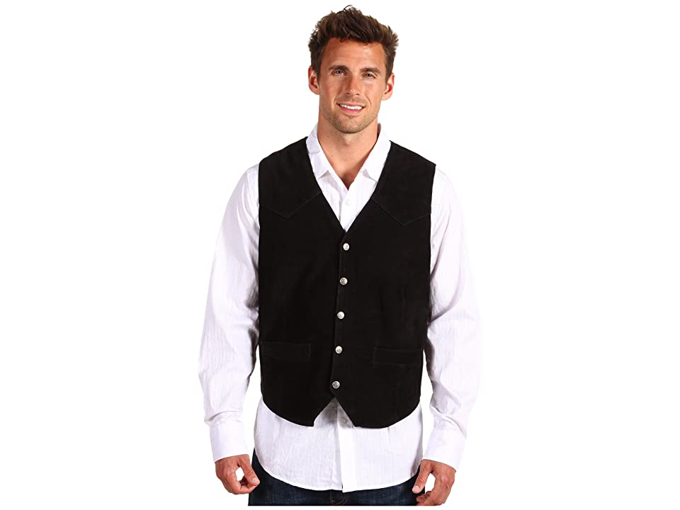 Roper Suede Vest with Front Yokes (Black) Men