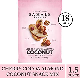 Sahale Snacks Cherry Cocoa Almond Coconut Snack Mix, 1.5 Ounces, 18ct